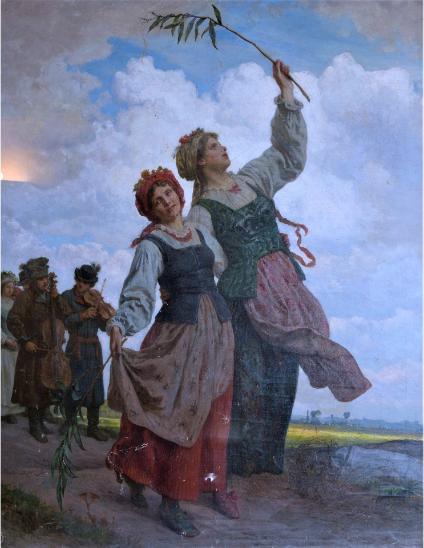 """Wojciech Gerson (1831-1901) """"Powitanie wiosny"""", źródło: FAAP"""
