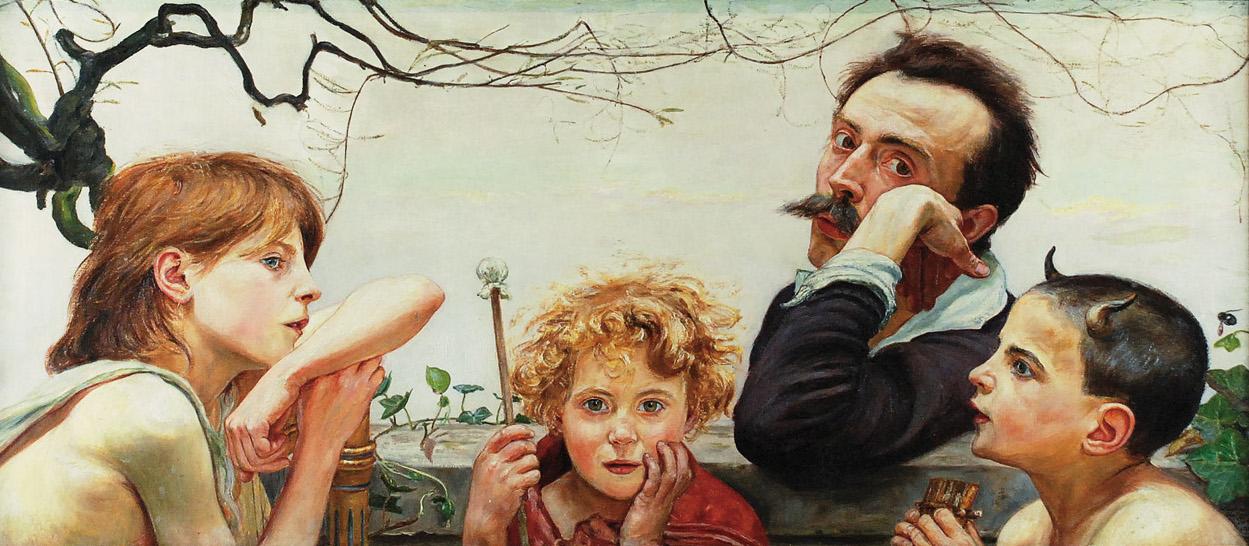 """Wlastimil Hofman """"Apoteoza sztuki"""", 1920 rok, źródło: Rempex"""
