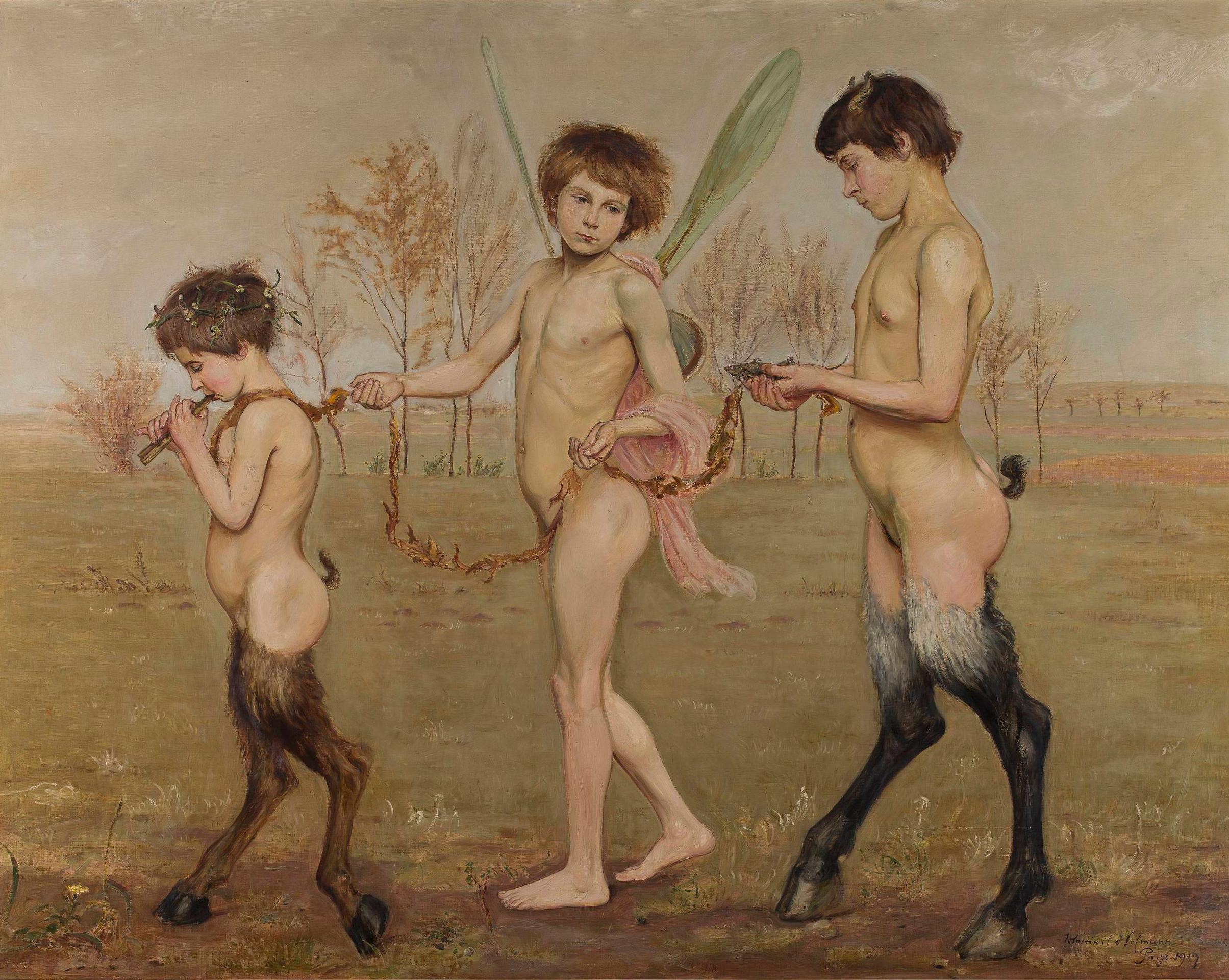 """Wlastimil Hofman """"Zgubione szczęście"""", 1919 rok, źródło: Muzeum Narodowe w Warszawie"""