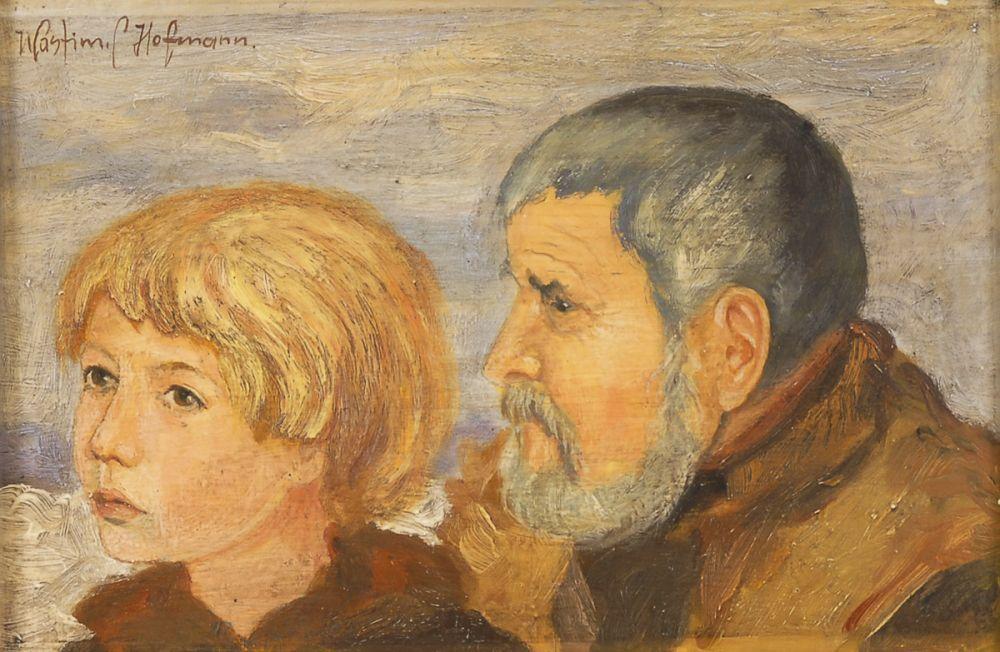 """Wlastimil Hofman (1881-1970) """"Starość i młodość"""", źródło: Auktionshaus Wendl"""