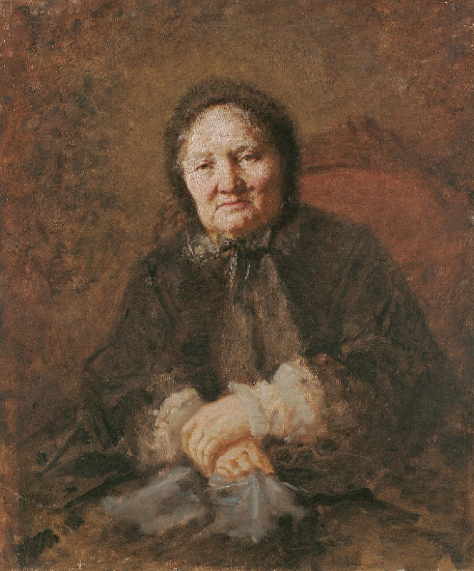 """Wilhelm Leopolski """"Portret Karoliny Hoffmanowej"""", 1870 rok, źródło: Muzeum Narodowe we Wrocławiu"""