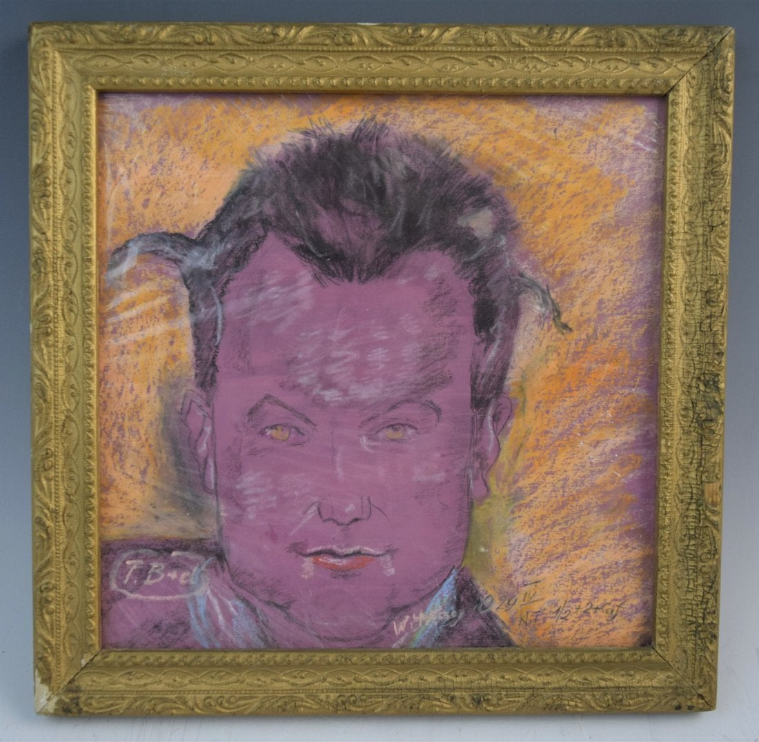 """Stanisław Ignacy Witkiewicz (1885-1939) """"Portret męski"""", źródło: Black River Auction"""