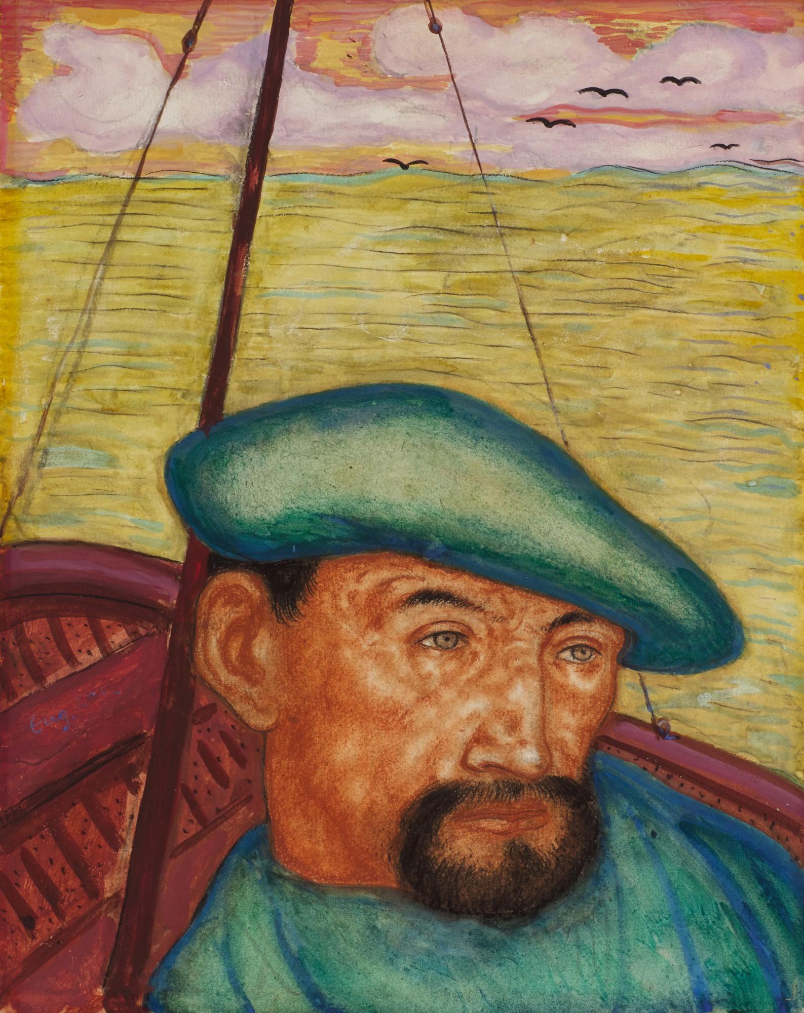 """Eugeniusz Zak (1884-1926) """"Żeglarz"""", źródło: Sotheby's"""
