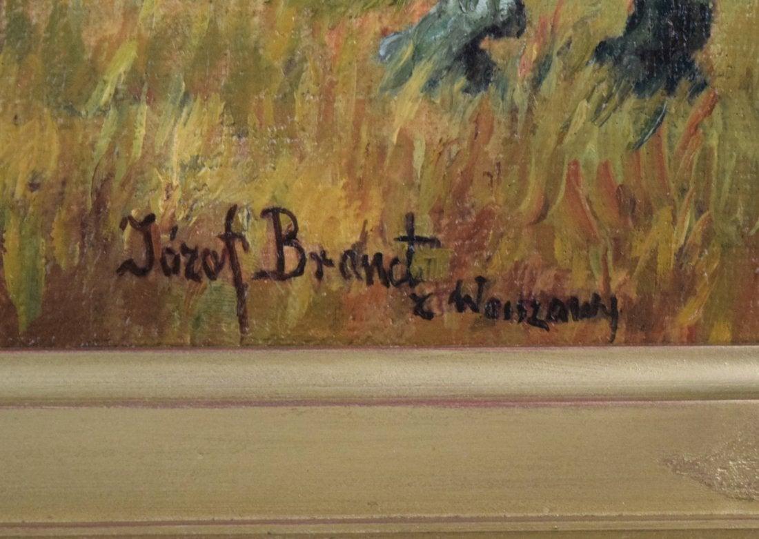 "Józef Brandt (1841-1915) ""Na postoju"", źródło: Black River Auction"