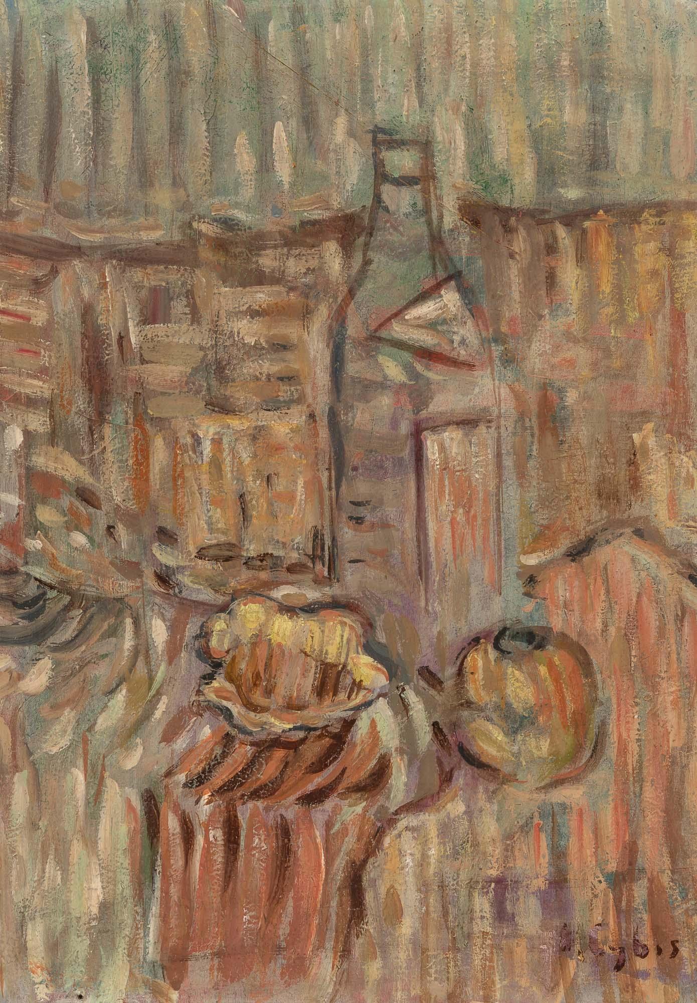 """Jan Cybis (1897-1972) """"Martwa natura z butelką"""", źródło: Doyle"""