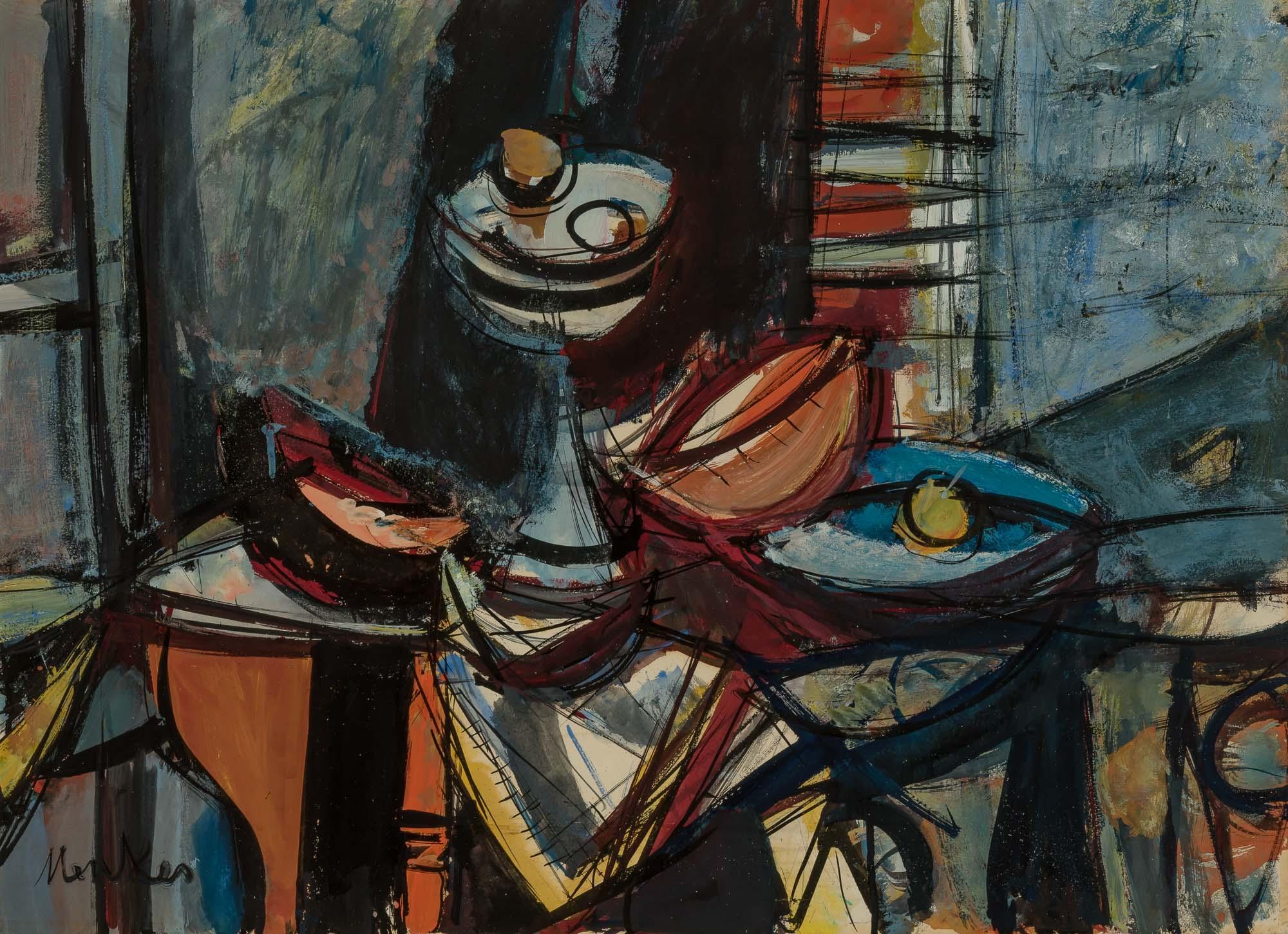 """Zygmunt Menkes (1896-1986) """"Martwa natura"""", źródło: Doyle New York"""