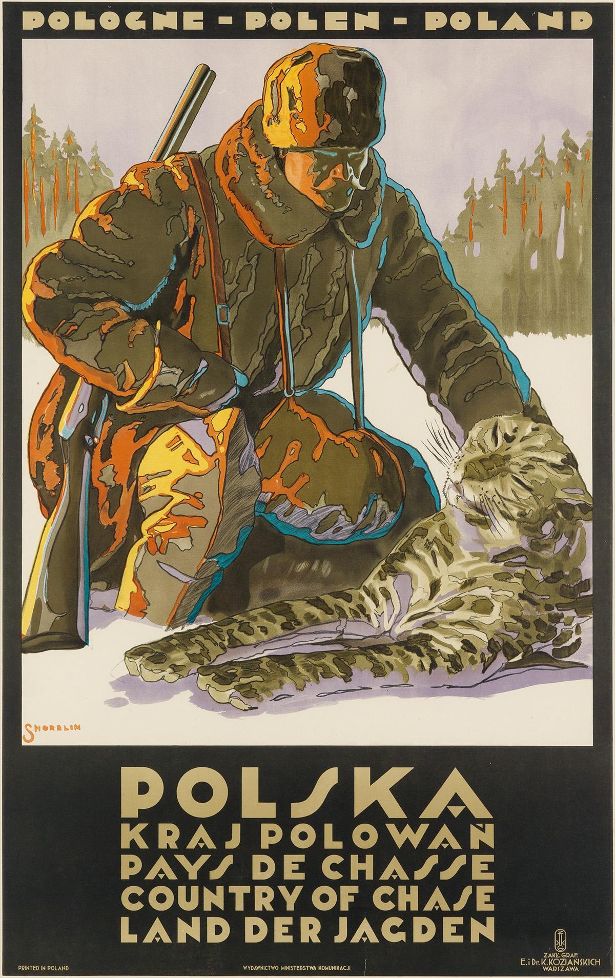 "Stefan Norblin (1892-1952) ""Polska - kraj polowań"", źródło: Swann Auction Galleries"