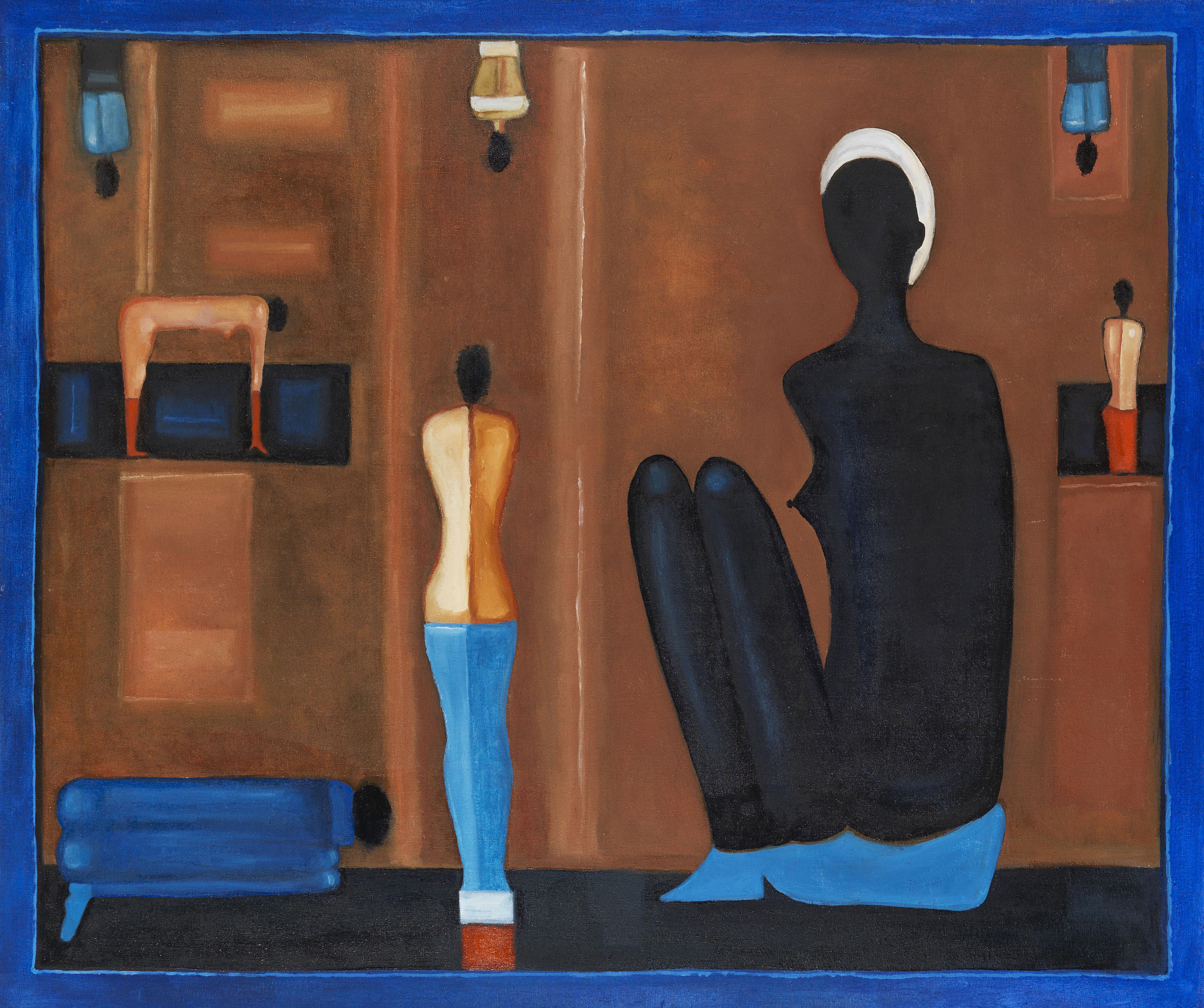 """Jerzy Nowosielski (1923-2011) """"Wspomnienie z Egiptu"""", źródło: Ketterer Kunst"""