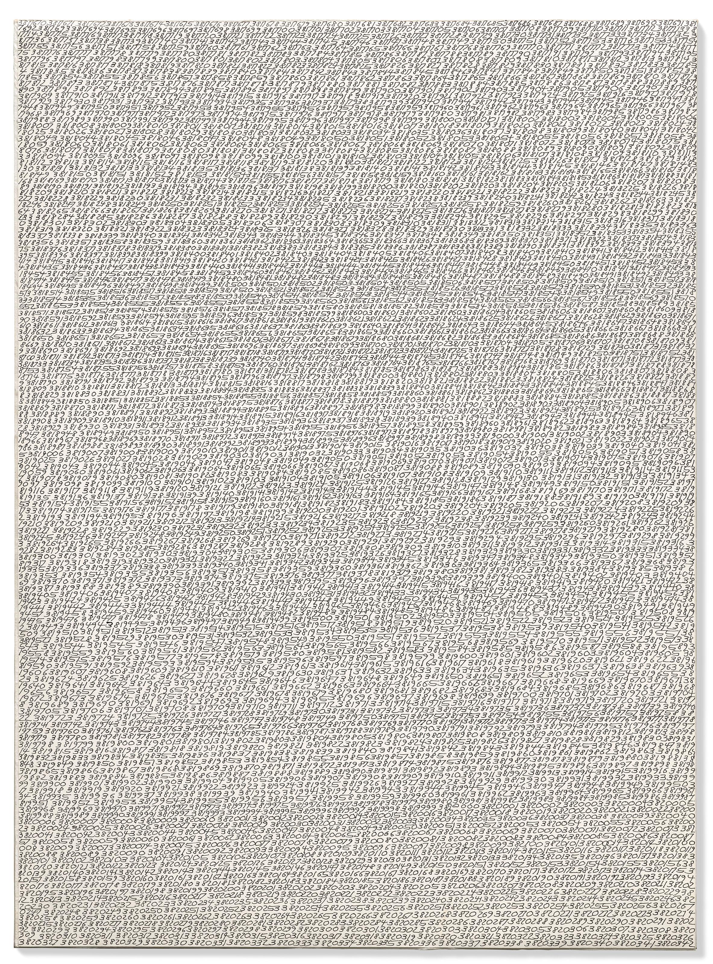 """Roman Opałka (1931-2011) """"Detal 3817670-3820342"""", źródło: Christie's"""