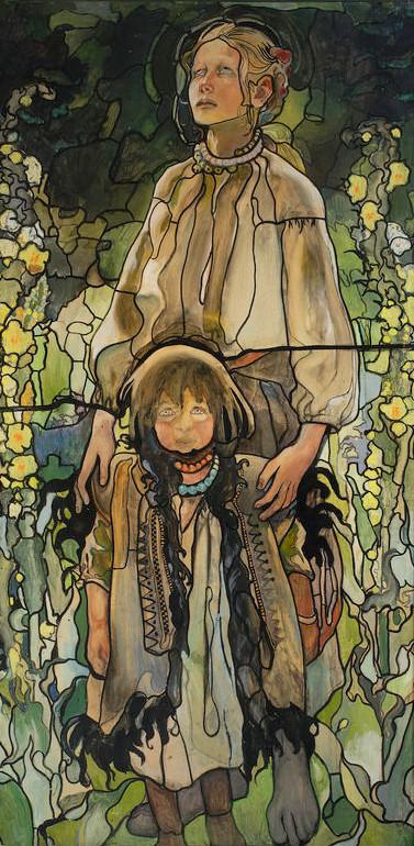"""Kazimierz Sichulski """"Wiosna I"""", projekt witraża, 1909 rok, źródło: Muzeum Narodowe w Warszawie"""