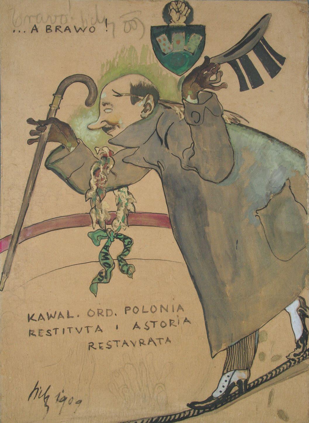 """Kazimierz Sichulski """"Kornel Makuszyński"""", 1909 rok, źródło: Muzeum Tatrzańskie w Zakopanem"""