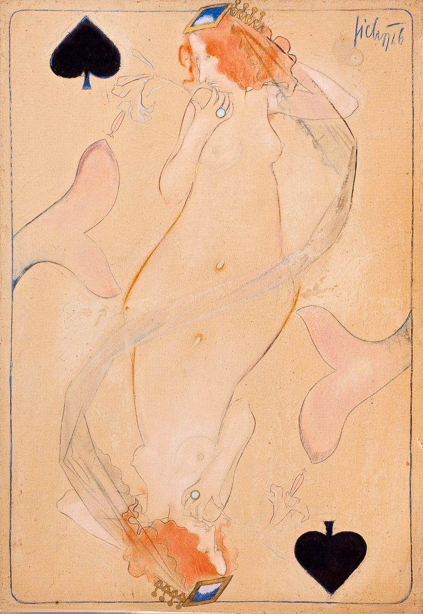 """Kazimierz Sichulski """"Irena Solska"""", 1916 rok, źródło: Muzeum Tatrzańskie w Zakopanem"""
