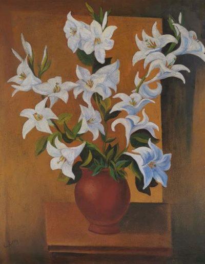 """Mojżesz Kisling, """"Bukiet lilii"""", źródło: Matsart Auctioneers & Appraisers"""