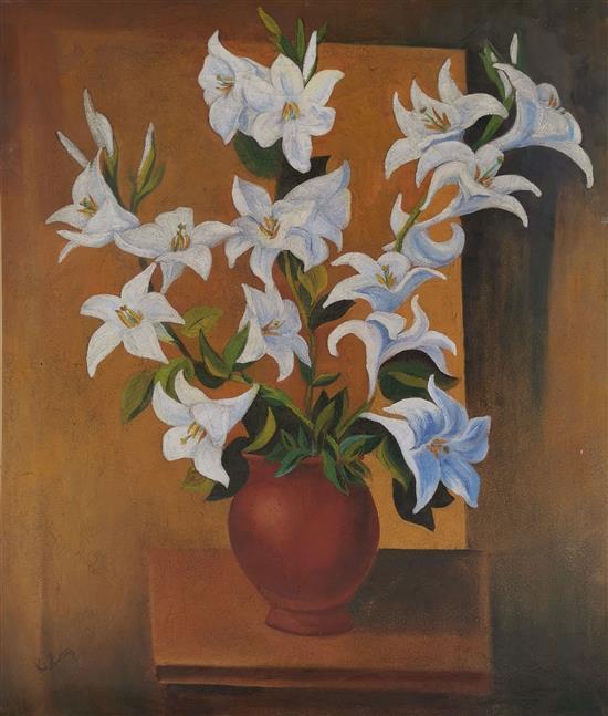 """Mojżesz Kisling (1891-1953) """"Bukiet lilii"""", źródło: Matsart Auctioneers & Appraisers"""
