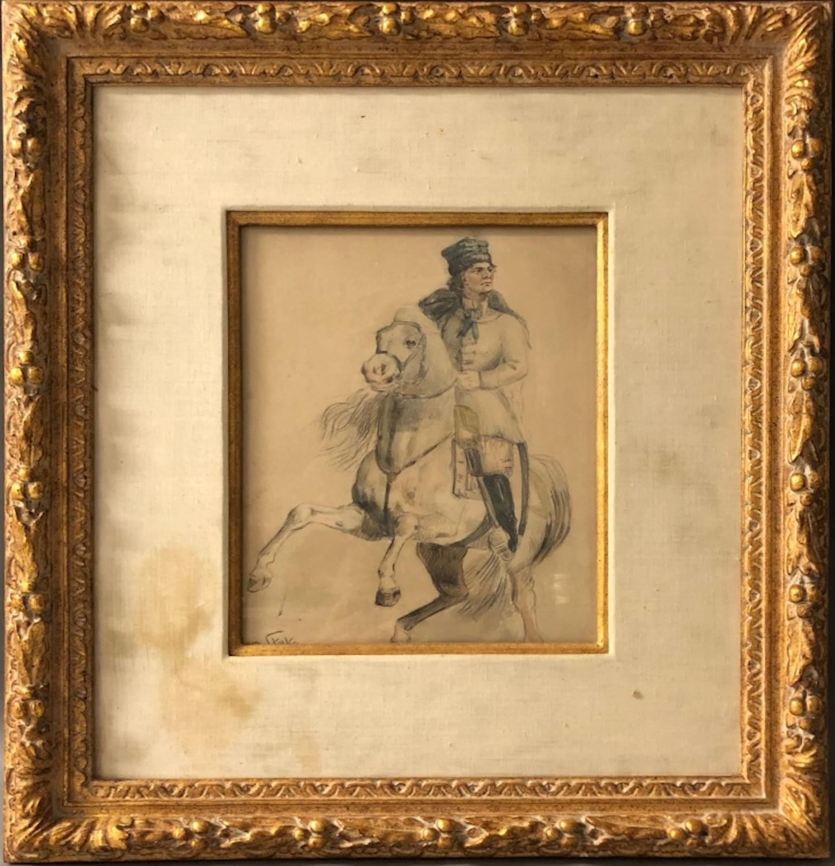 """Jan Styka (1858-1925) """"Jeździec na koniu"""", źródło: World Auction Gallery"""