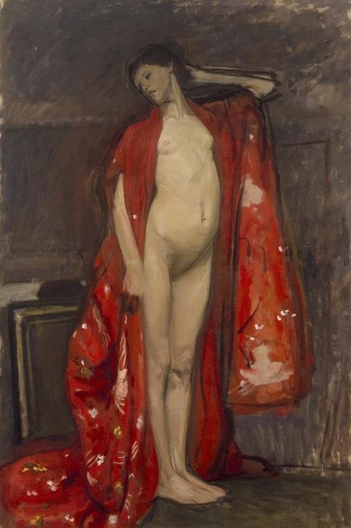 """Wojciech Weiss """"Japonka"""", 1900 rok, źródło: kolekcja Grażyny i Jacka Łozowskich"""