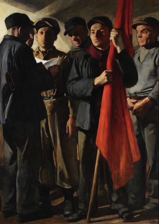 """Wojciech Weiss """"Manifest"""", lata 1949-1950, źródło: Muzeum Narodowe w Warszawie"""