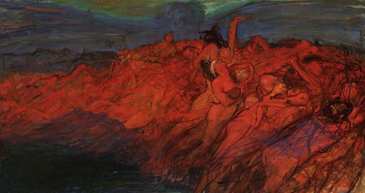 """Wojciech Weiss """"Opętanie"""", lata 1899-1900, źródło: Muzeum Narodowe w Warszawie (depozyt)"""