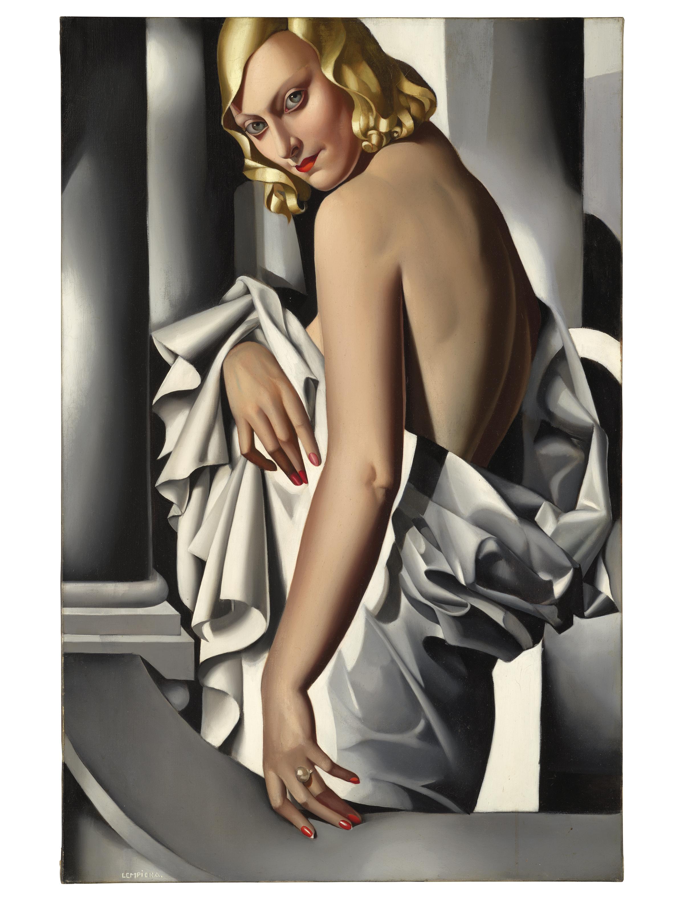 """Tamara Łempicka (1898-1980) """"Portret Marjorie Ferry"""", źródło: Christie's"""