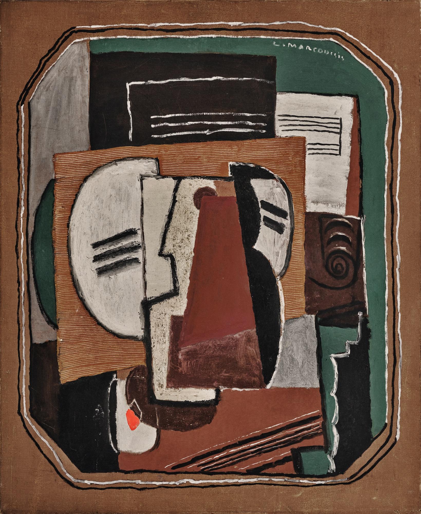 """Louis Marcoussis (1871-1941) """"Martwa natura"""", źródło: Sotheby's"""