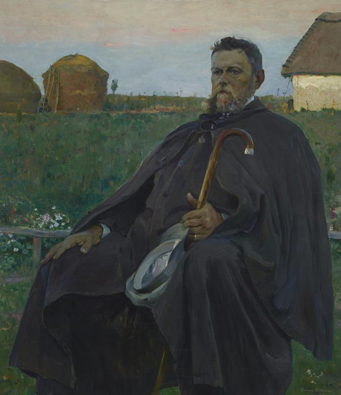 """Michaił Nesterow """"Portret Jana Stanisławskiego"""", 1906 rok, źródło: Muzeum Archeologiczne w Surażu"""
