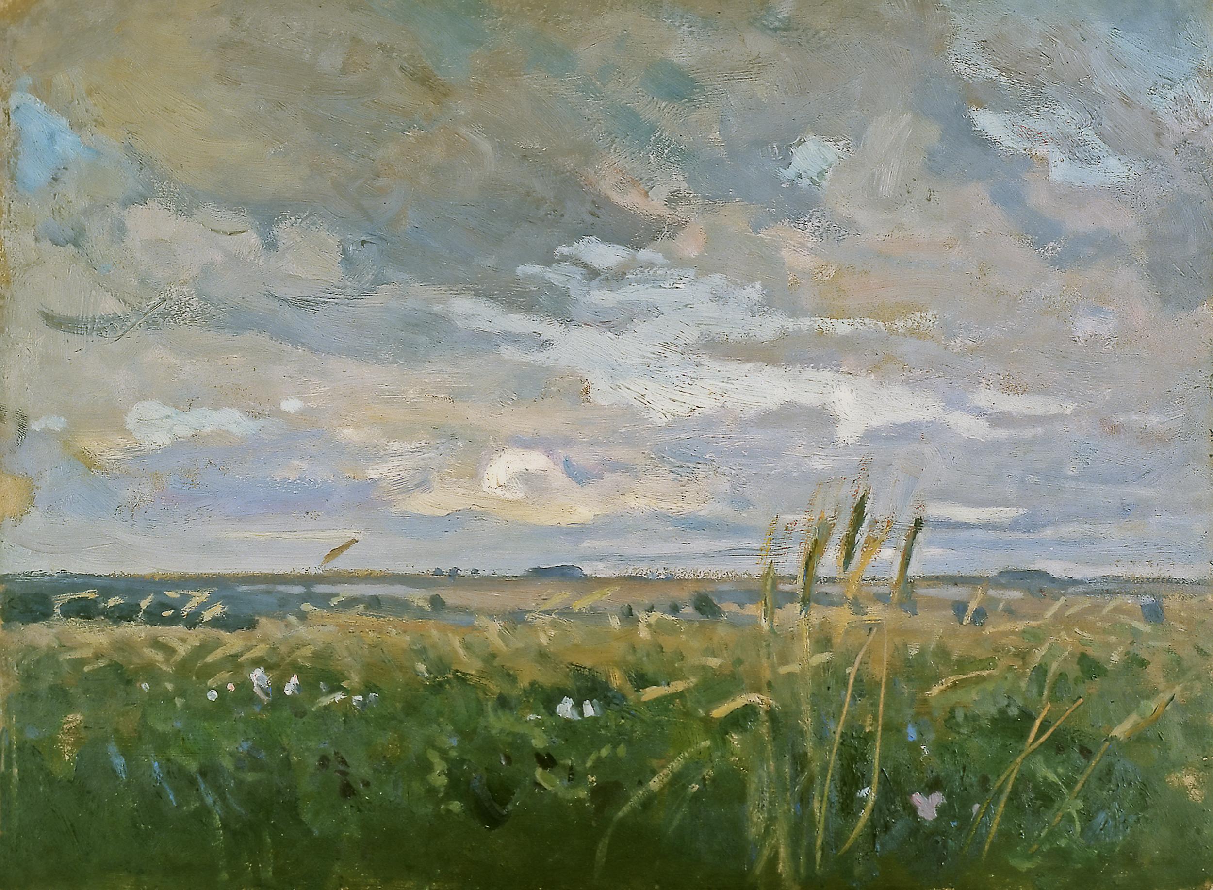 """Jan Stanisławski """"Chmury (Dobra na Ukrainie)"""", ok. 1900 roku, źródło: Muzeum śląskie w Katowicach"""