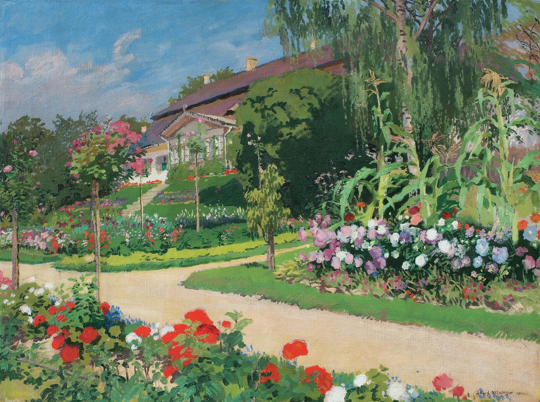 """Józef Mehoffer """"Dwór w Jankówce"""", 1914 rok, źródło: Agra-Art"""
