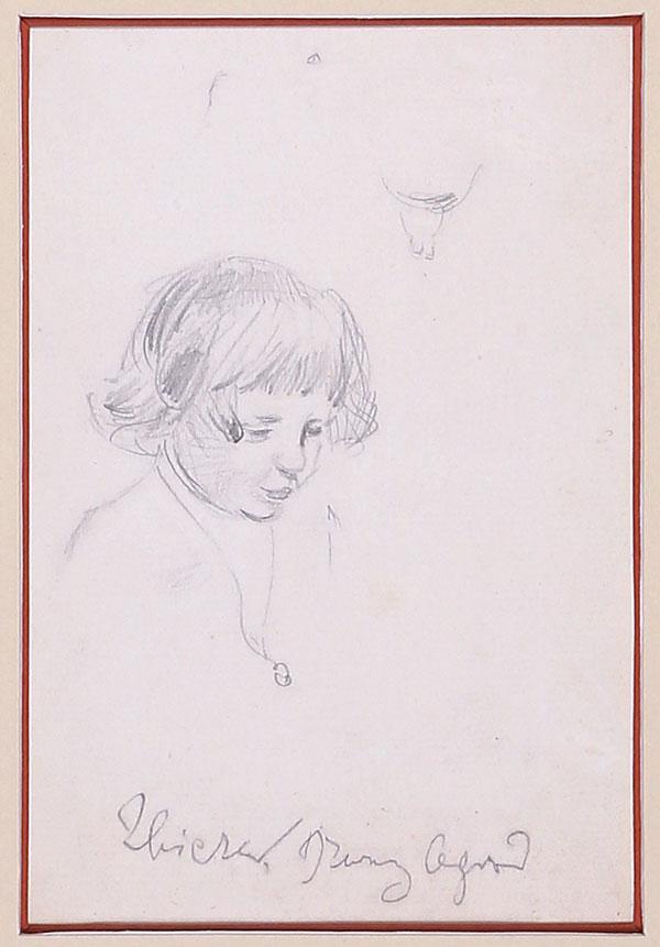 """Józef Mehoffer (1869-1946) """"Studium synka - Dziwny Ogród"""", przed 1903 rokiem, źródło: Salon Dzieł Sztuki Connaisseur"""