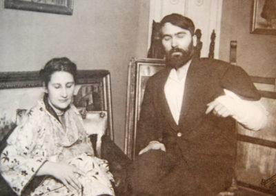 Fotografia przedstawiająca Annę i Leopolda Zborowskich, 1919 rok, źródło: wikimedia.org