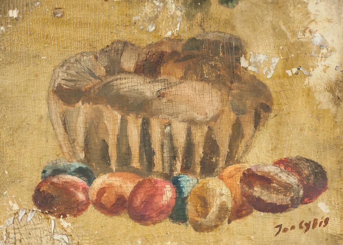 """Jan Cybis (1897-1972) """"Martwa natura wielkanocna"""", źródło: 888 Auctions"""