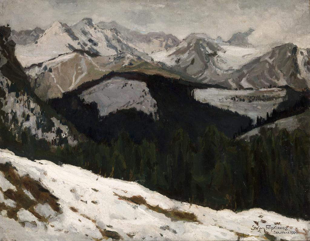 """Stefan Filipkiewicz (1879-1944) """"Odwilż w Tatrach"""", 1904 rok, źródło: Muzeum Narodowe w Krakowie"""