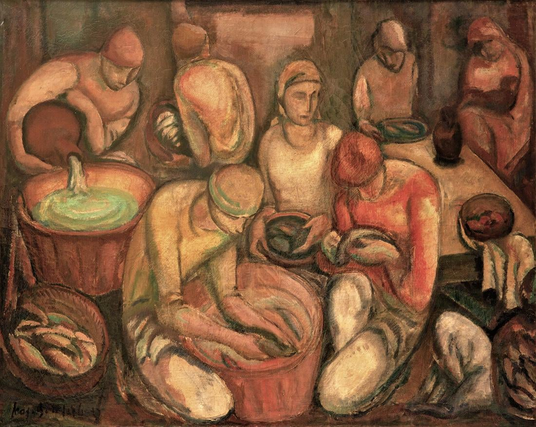 "Leoopold Gottlieb (1883-1934) ""Targ rybny"", źródło: Shapiro Auctions"
