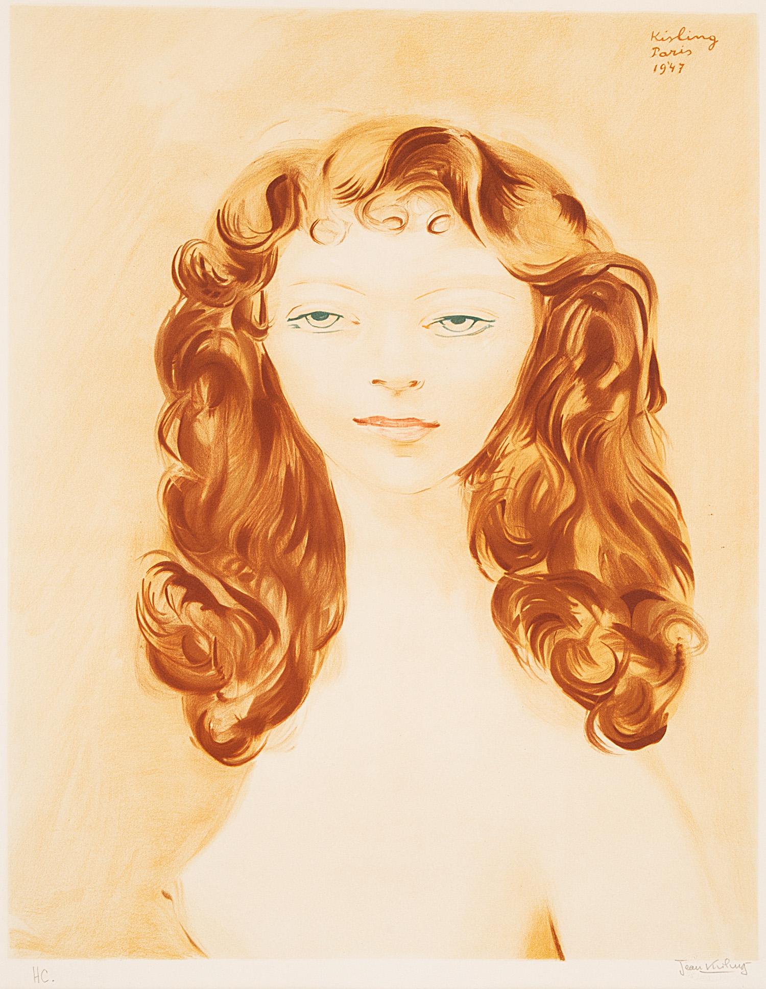 """Litografia Mojżesza Kislinga """"Ruda"""" odbita po śmierci artysty i opisana przez jego syna Jeana Kislinga oraz oznaczona skrótem """"HC"""" (""""hors de commerce""""), źródło: Salon Dzieł Sztuki Connaisseur"""
