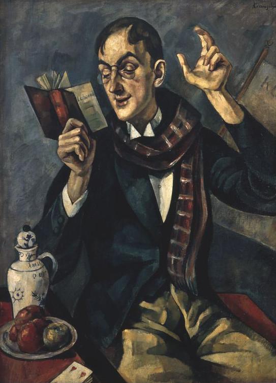 """Roman Kramsztyk (1885-1942) """"Portret Jana Lechonia"""", po 1920 roku, źródło: Muzeum Narodowe w Warszawie"""