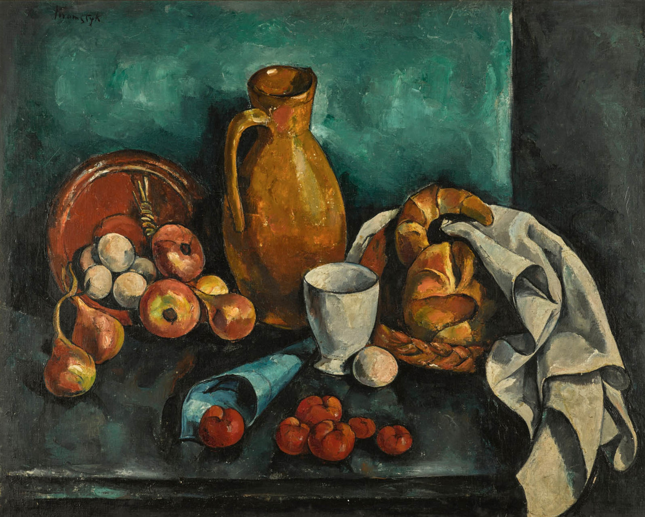 "Roman Kramsztyk (1885-1942) ""Martwa natura z rogalikami"", źródło: Sotheby's"