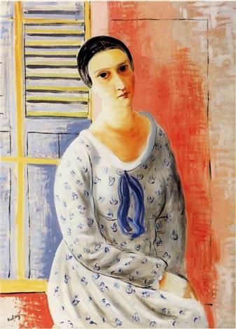 """Mojżesz Kisling (1891-1953) """"Portret Anny Zborowskiej"""", 1922 rok, źródło: Artcurial"""