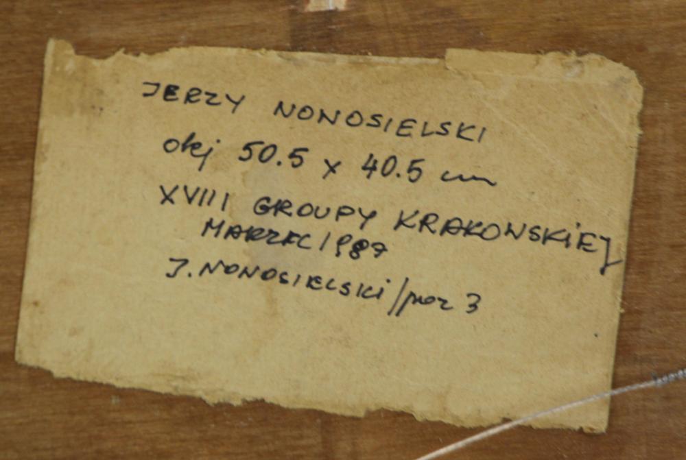 """Jerzy Nowosielski (1923-2011) """"Cerkiew"""", źródło: Clarke Auction Gallery"""