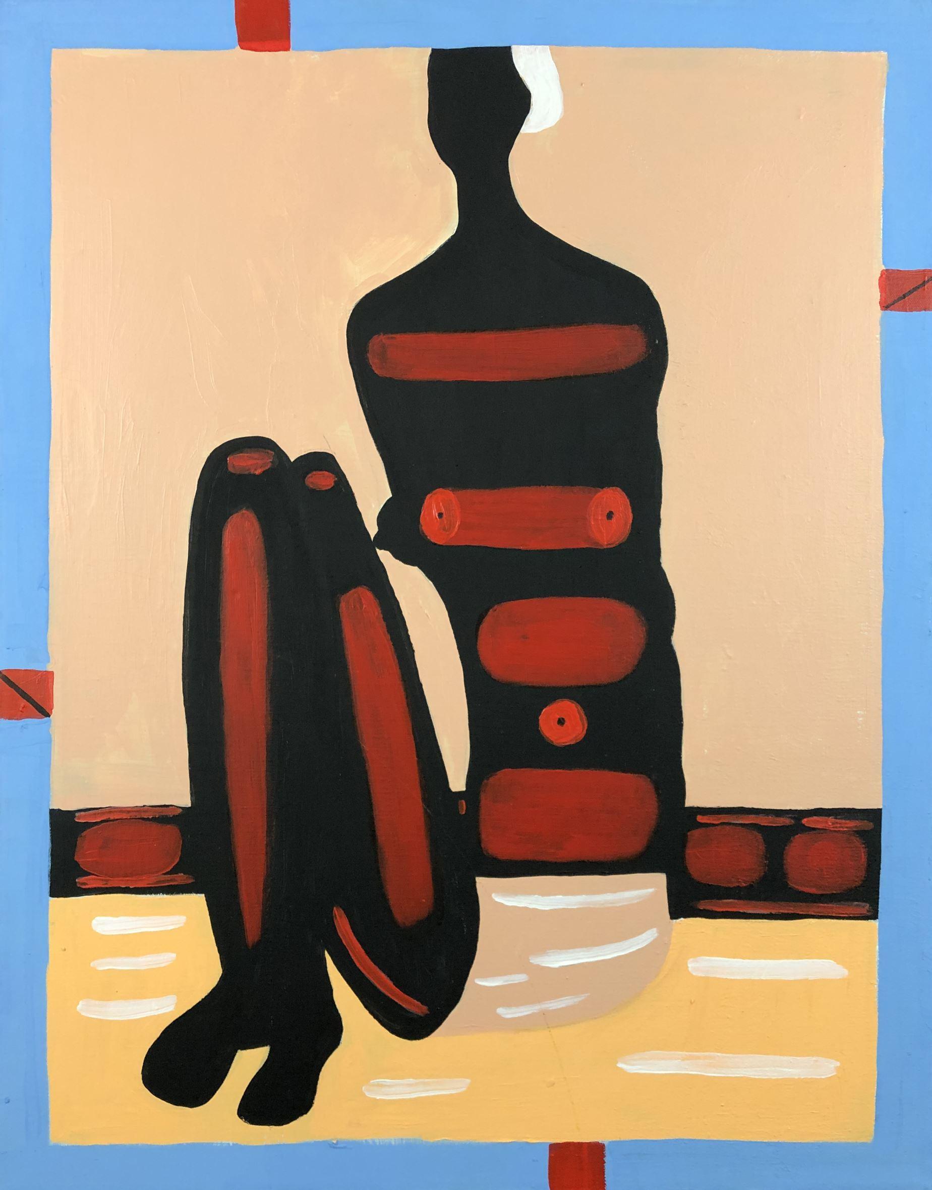 """Jerzy Nowosielski (1923-2011) """"Murzynka na plaży"""", źródło: Finger Lakes Estate & Auction Company"""