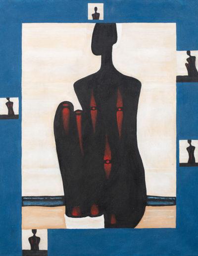"""Jerzy Nowosielski (1923-2011) """"Murzynka na plaży"""", źródło: Polsiwss Art"""