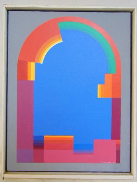 """Jan Pamuła (ur. 1944) """"Układ geometryczny"""", źródło: Hudson Valley Auctioneers"""
