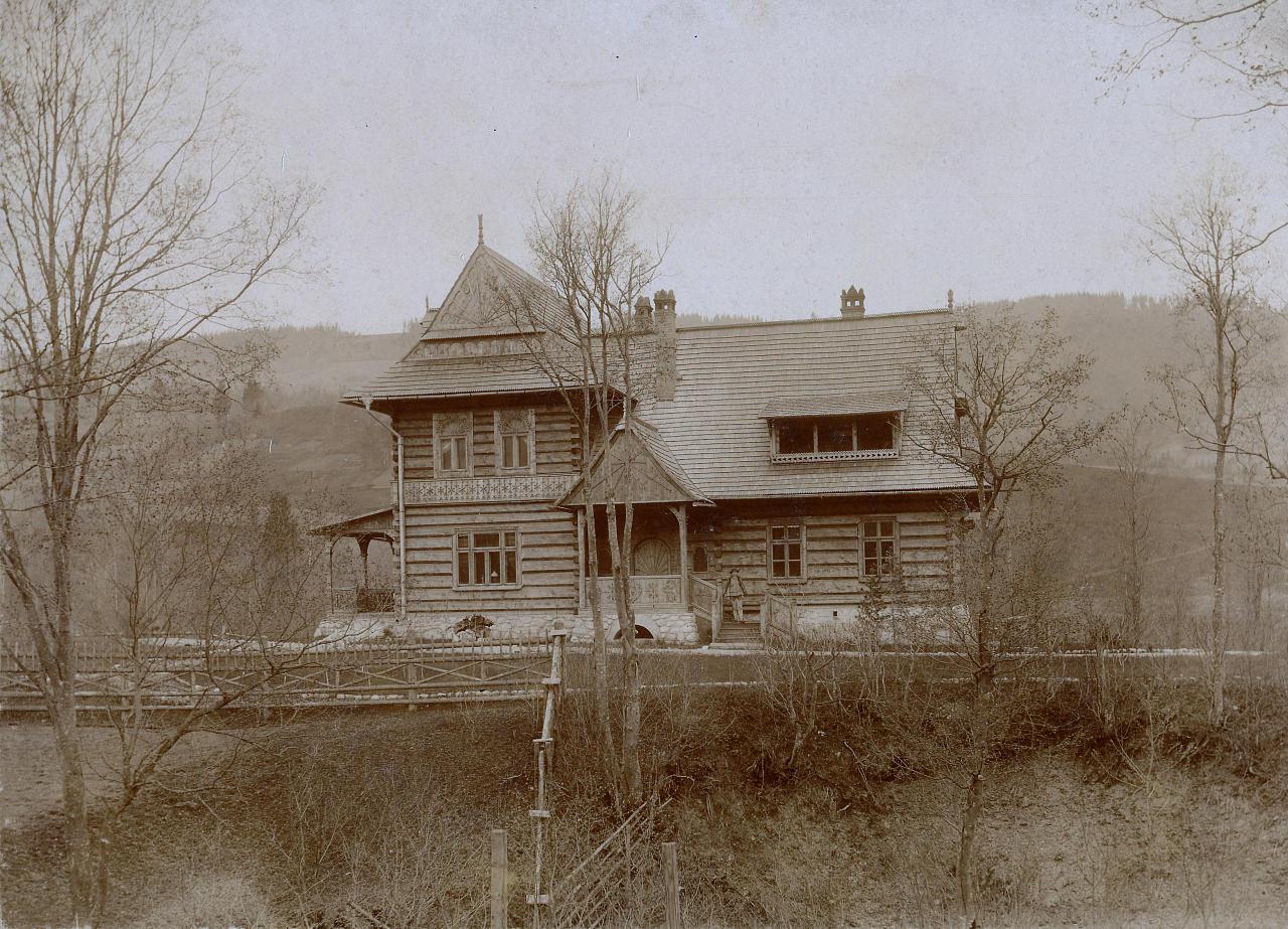 Willa Koliba projektu Stanisława Witkiewicza przed rozbudową w 1901 roku, źródło: Muzeum Tatrzańskie w Zakopanem
