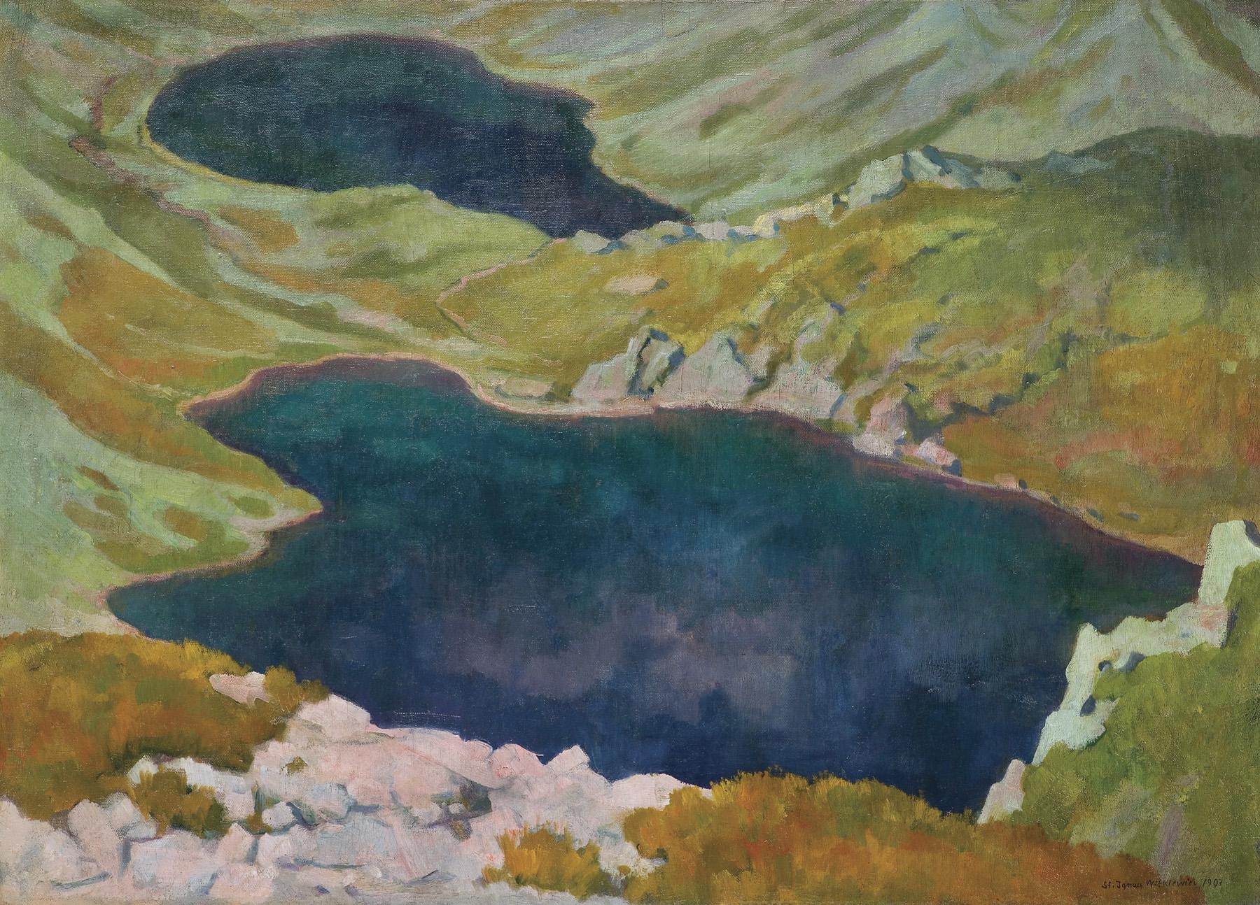 """Stanisław Ignacy Witkiewicz (1885-1939) """"Hińczowe Stawy"""", 1907 rok, źródło: Agra-Art"""