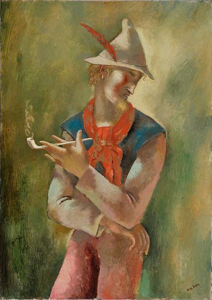 """Eugeniusz Zak (1884-1926) """"Chłopiec z fajką"""", źródło: Rossini"""