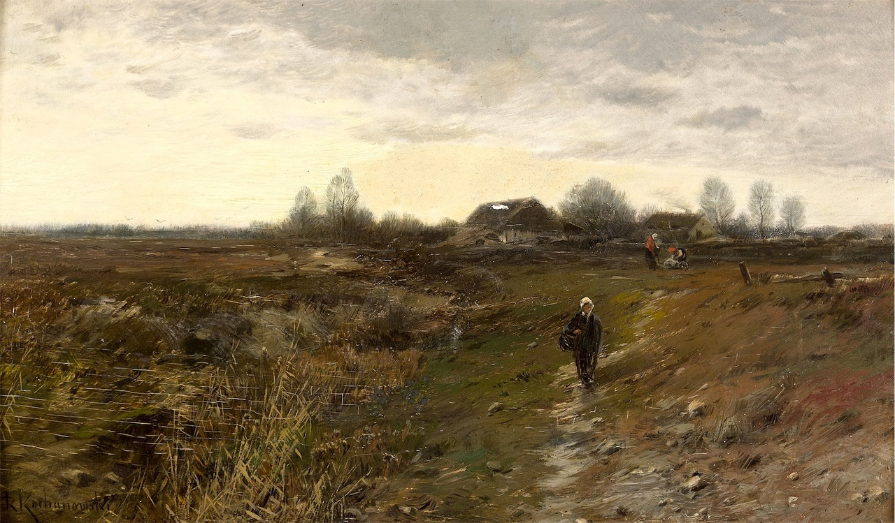 """Roman Kochanowski (1857-1945) """"Jesienny pejzaż"""", źródło: Polswiss Art"""