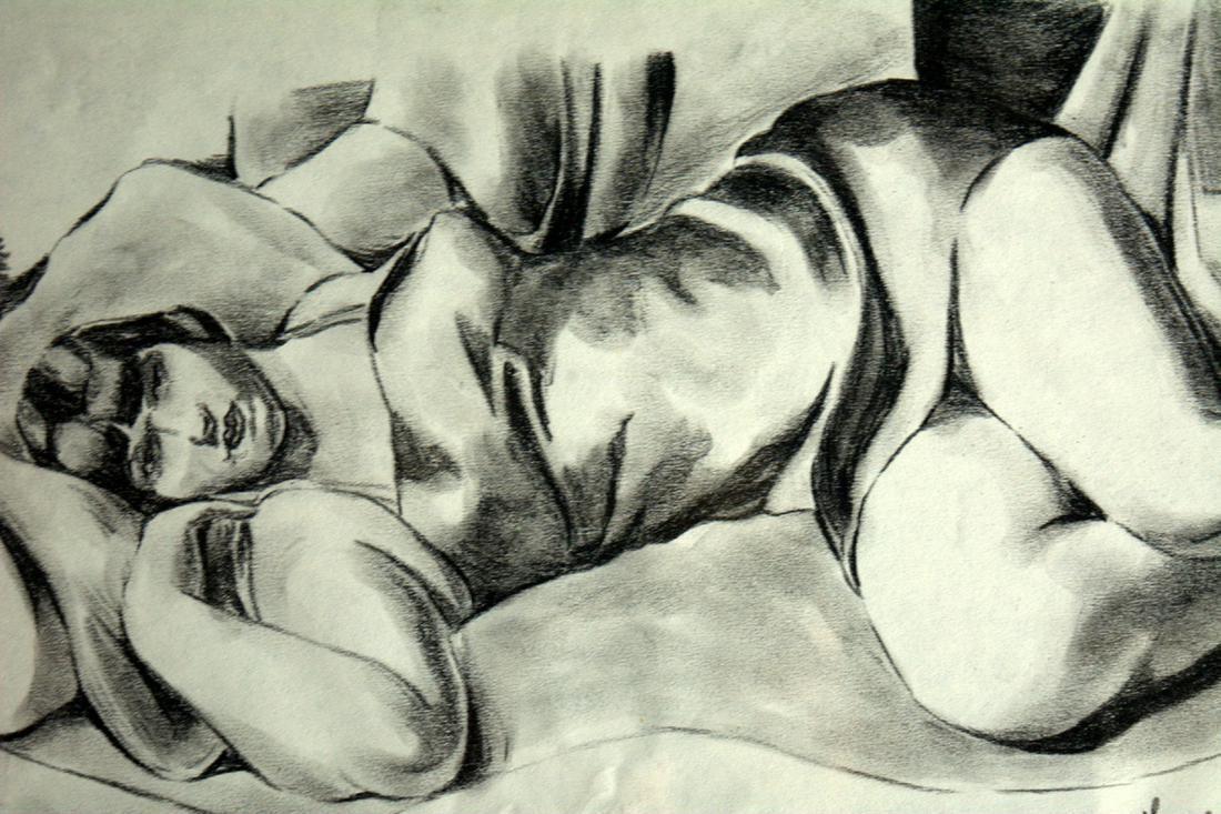 """Tamara Łempicka (1898-1980) """"Akt leżący"""", źródło: Novartia Auctions"""