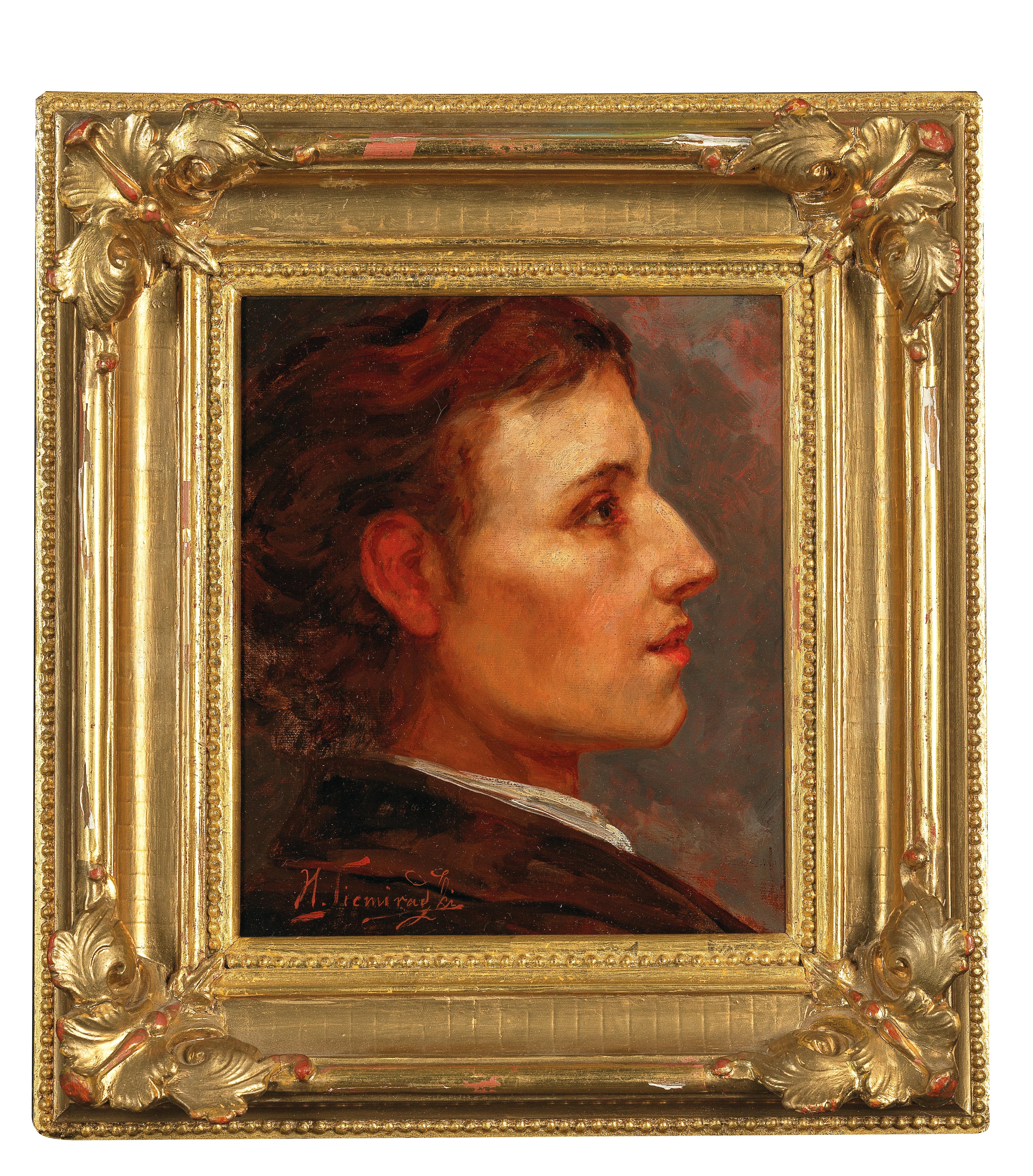 """Henryk Siemiradzki (1843-1902) PRZYPISYWANY """"Portret Fryderyka Chopina"""", źródło: Dorotheum"""