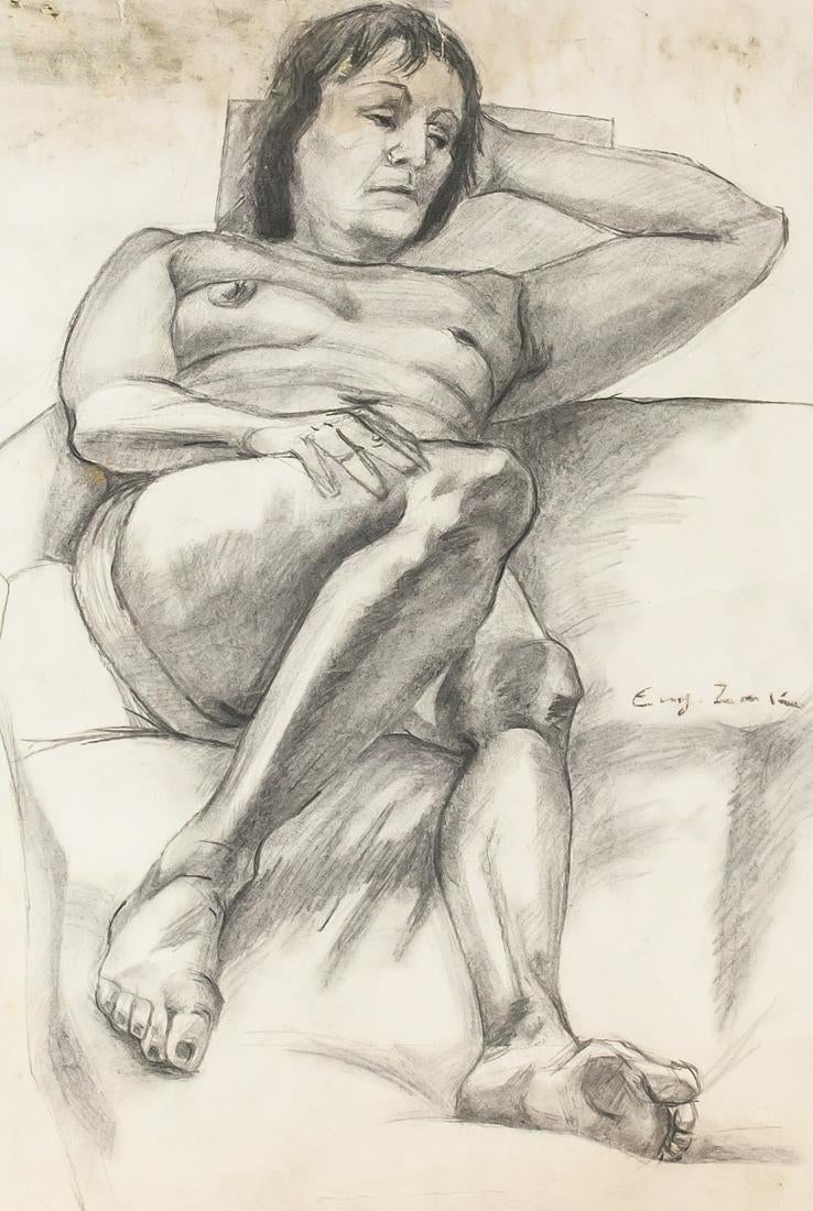 """Eugeniusz Zak (1884-1926) """"Akt"""", źródło: 888 Auctions"""