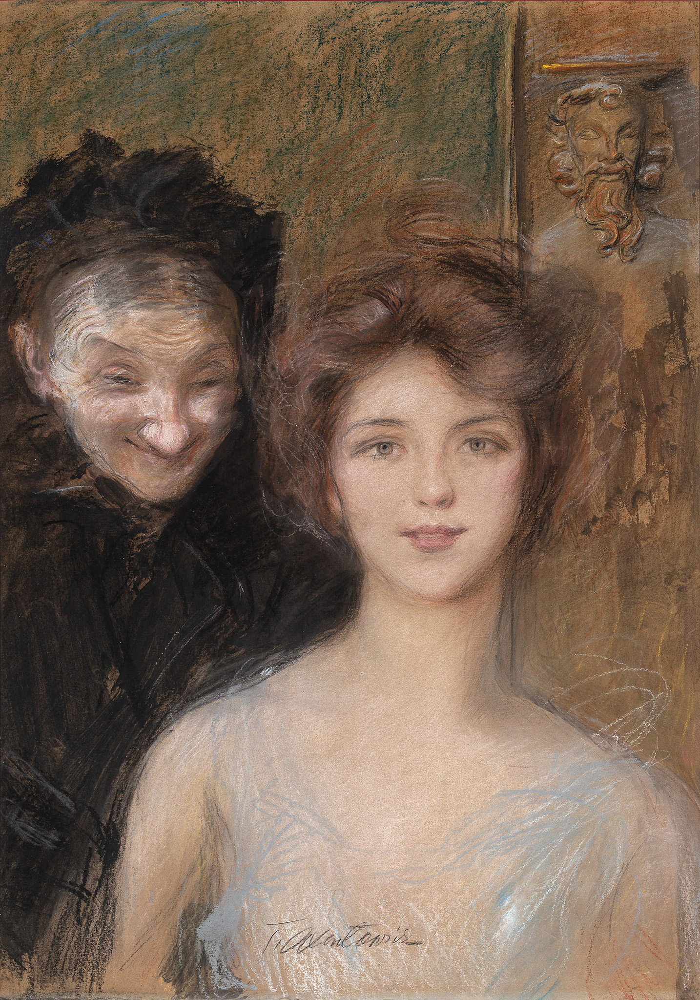 """Teodor Axentowicz (1859 - 1938) """"Kabalarka"""", źródło: Salon Dzieł Sztuki Connaisseur"""