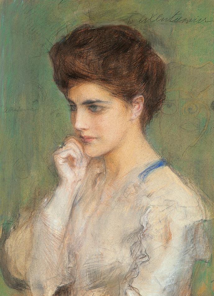 """Teodor Axentowicz (1859 - 1938) """"Zaduma"""", źródło: Agra-Art"""