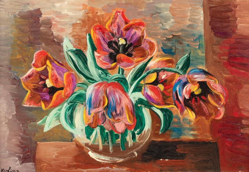 "Mojżesz Kisling (1891-1953) ""Bukiet tulipanów"", źródło: Rossini"